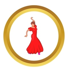 Flamenco dancer icon vector