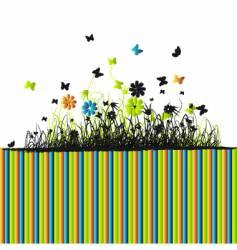 floral frame spring vector image