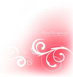 Floral in pink background vector