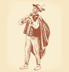 Folk musician vector