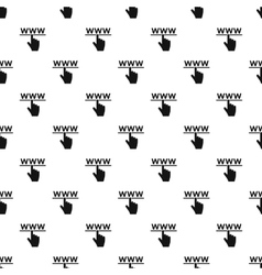Hand cursor and website pattern simple style vector