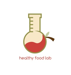 Healthy food lab design template with fruits vector