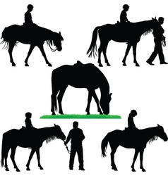 horse riding school vector image