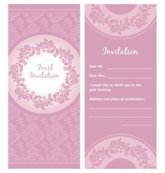 invitation background greeting card vector image