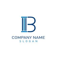 letter b lae design vector image