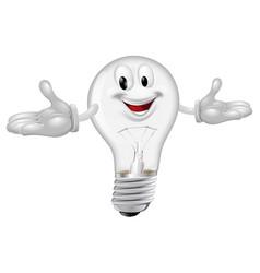 light bulb mascot vector image vector image