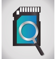 Lupe and sms icon search design graphic vector