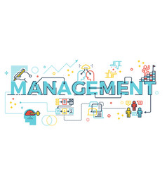 management word lettering vector image