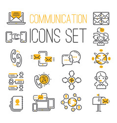 media internet web network contact communication vector image vector image