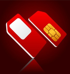 mobile sim cards vector image vector image