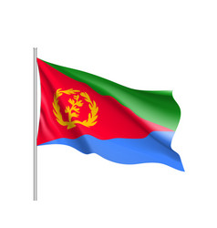 National flag of eritrea vector