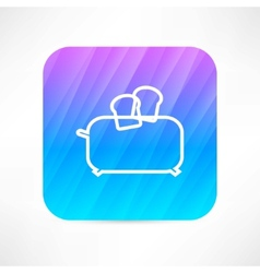 toaster icon vector image vector image