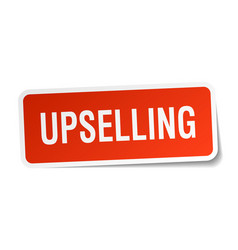 Upselling square sticker on white vector
