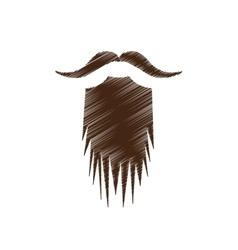 Vintage facial hair icon image vector