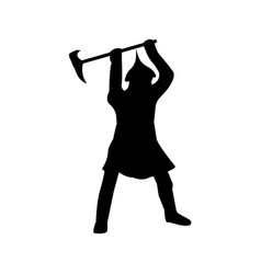 Warrior silhouette on white background vector