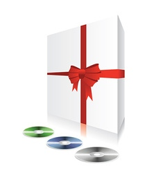 white box with cd vector image