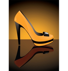 yellow shoe vector image