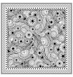 Black mono color vector image