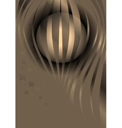 Glossy wavy stripes and stars on a beige backgroun vector image