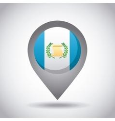 Guatemala flag pin vector