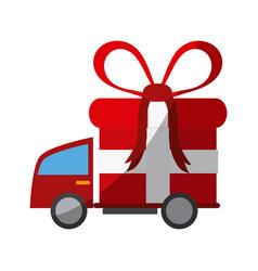 cargo truck icon vector image