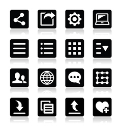 Menu settings tools icons set vector
