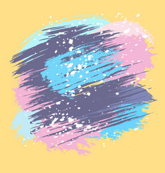 Colorful splashes and spots vector
