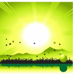 Sunset nature vector