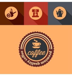 Flat premium coffee design vector