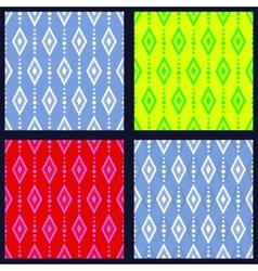 Set of patterns with rhombuses vector image