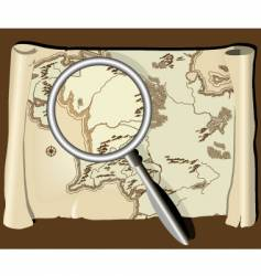 Map with magnifier vector