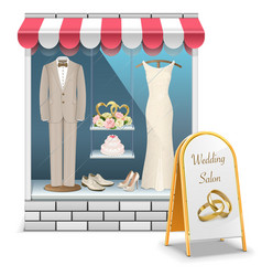 Wedding boutique vector