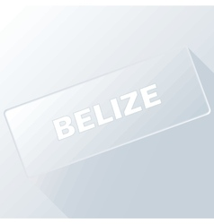 Belize unique button vector
