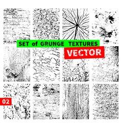 Set of grunge textures vector