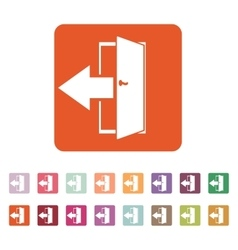 The exit icon logout and output outlet out vector