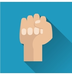 Fist flat icon vector