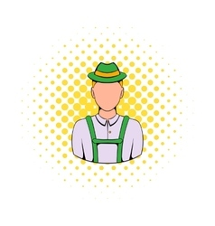 Man in traditional bavarian costume icon vector