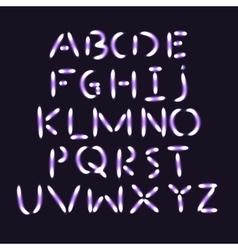 Flash light alphabet vector