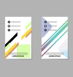 brochure layout template abstract flyer cover vector image vector image