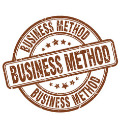 Business method brown grunge stamp vector