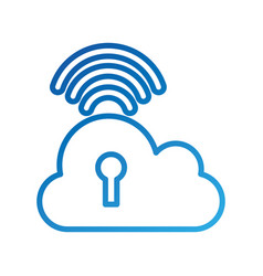 Cloud computing keyhole security wifi internet vector