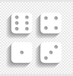 Devils bones ivories sign white icon vector