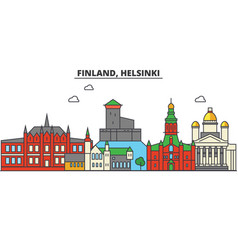 finland helsinki city skyline architecture vector image vector image