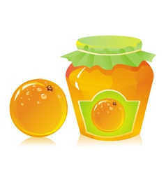 jar of orange marmalade vector image vector image