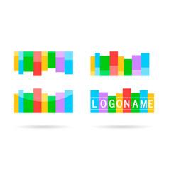 logo for web design shape label line ribbon vector image vector image