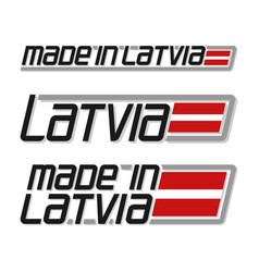 made in latvia vector image