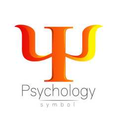 Modern sign of psychology psi creative style vector