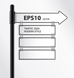 modern traffic sign vector image vector image