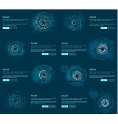 Radar webpages collection vector