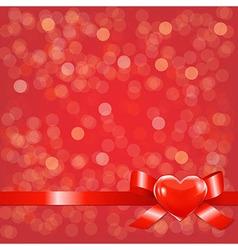 Red Bokeh Background With Bow vector image vector image